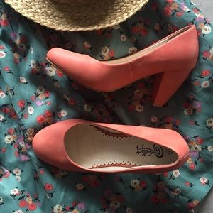 Pink Chunky Heels